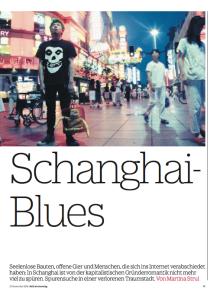 Schanghai-Blues Titelblatt